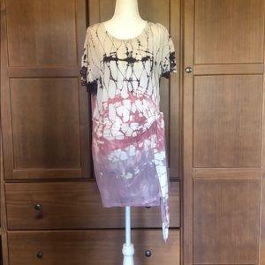 Extra Comfort tie dye look wrap dress!